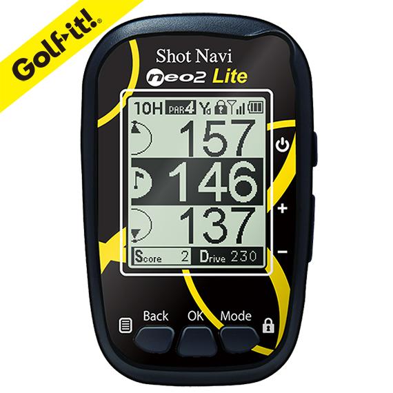 ゴルフ用品 ラウンド用品飛距離計測 スコア管理ライト(LITE) G-729ショットナビ ネオ 2ライト