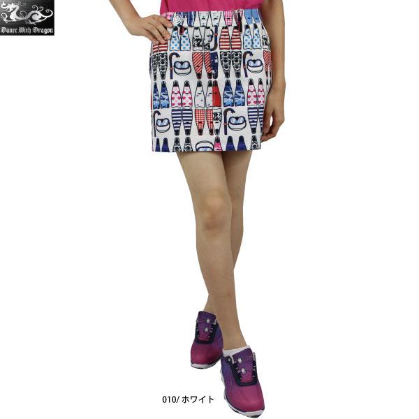 【45%OFF】 Dance With Dragon ダンスウィズドラゴン D2-405304 マーレプリントスカートパンツ レディース スカート パンツ ゴルフウエア 【ラッキーシール対応】