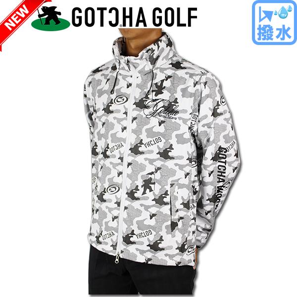 【新作】GOTCHA GOLF ガッチャゴルフ 183GG1604 撥水 ウィンド ブレーカー ジャケット ゴルフウェア 大きいサイズ【ラッキーシール対応】