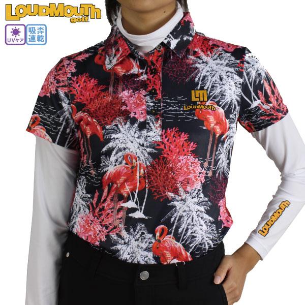 13 200円以上で送料無料 平日最短2日で発送 30%OFF ラウドマウスレディース 半袖ポロシャツ インナーセット フラミンゴミッドナイト Flamingo 最安値 吸汗速乾 LOUDMOUTH 評価 ゴルフウェア 大きいサイズ 770550-267 ゴルフシャツ Midnight UVカット loudmouth