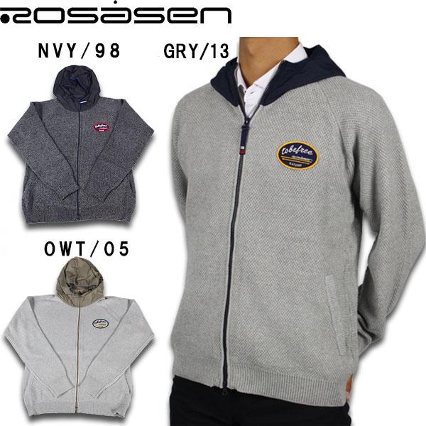 【45%OFF!!】Rosasen ロサーセン ゴルフウェア ニットフードブルゾン 044-56811 ゴルフ ウェア ゴルフウェア