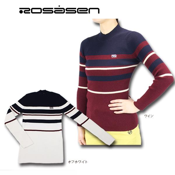 【40%OFF!!】Rosasen ロサーセン 045-16811 レディース ワイドリブニット ゴルフウェア ゴルフ
