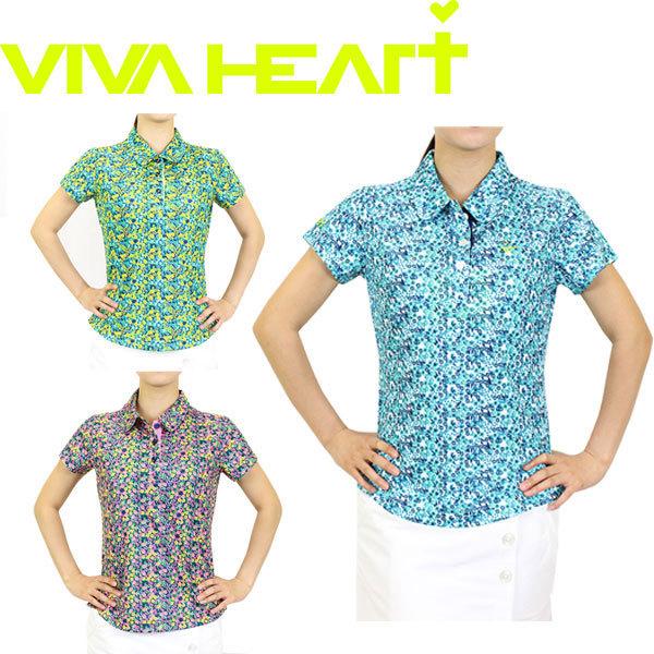 【50%OFF】 VIVAHEART ビバハート フラワーTR鹿の子 ポロシャツ 半袖 012-25242【ラッキーシール対応】