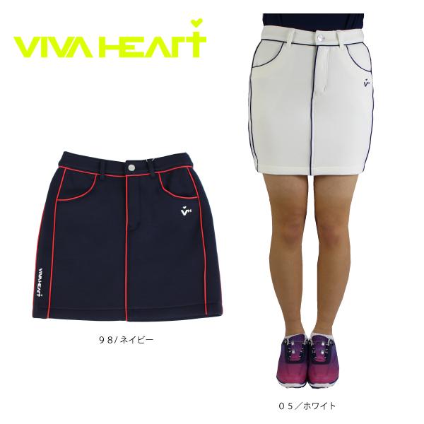 【2020春夏新作】ビバハート ゴルフ レディース スカート ダンボールニット ゴルフウエアー VIVA HEART 012-72342