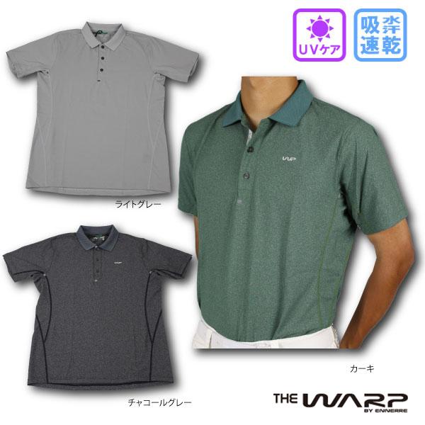 【60%OFF】 WARP ワープ 121-26840 フィールフィット半袖ポロシャツ UV 吸水速乾 UVケア メンズゴルフウェア シンプル 半袖ポロシャツ 大きいサイズ 小さいサイズ【ラッキーシール対応】