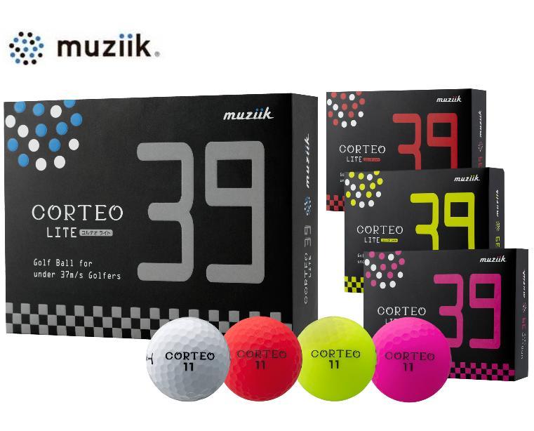 ムジーク Muziik コルテオ ライト 39 ゴルフボール