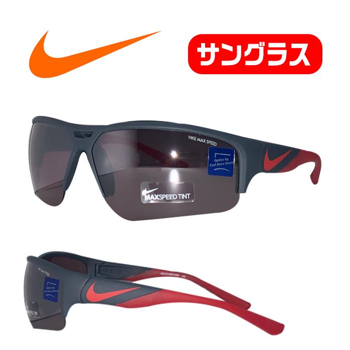 ナイキ ゴルフ サングラス ミラーレンズ 普段使いもできる オシャレなサングラス 付属品つき NIKE X2 PRO EV0873 ブラック レッド