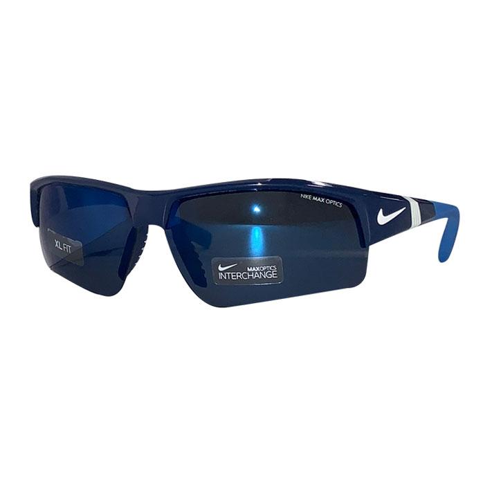 NIKEミラーレンズサングラス交換レンズつき! ナイキ ゴルフ サングラス ミラーレンズ 交換レンズつき NIKE SHOW X2 XL R EV0808 ネイビー ブルー