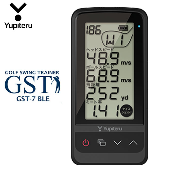 通信対応 数値は手元で確認できる Bluetooth対応のスマホやタブレットでスイング確認 ユピテル ゴルフ ゴルフスイングトレーナー GST-7 Bluetooth Yupiteru スピード測定 ミート率 アウトレット スマホ連動 アプローチ練習 スーパーSALE セール期間限定 BLE