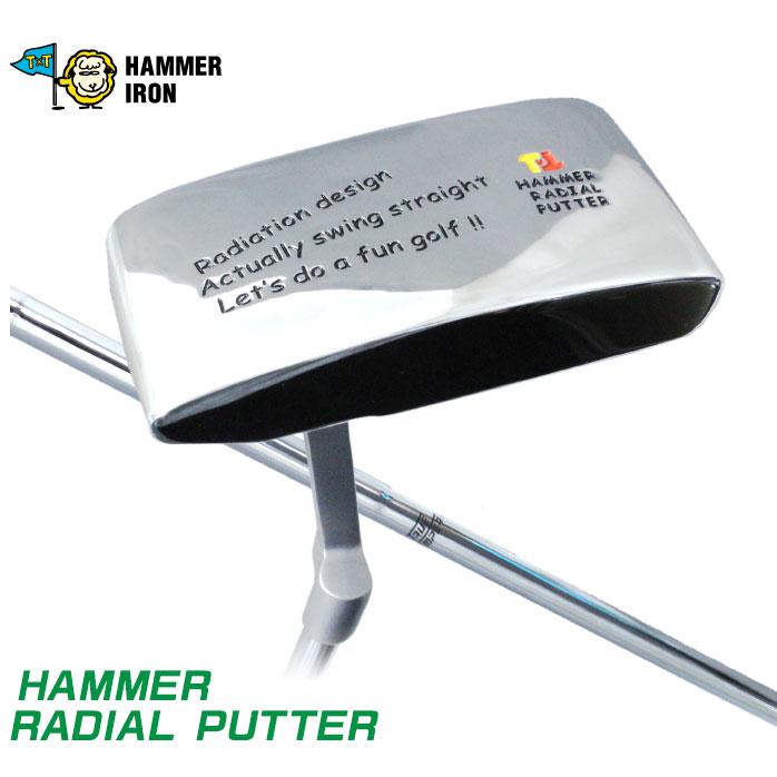 T×T ティーバイティー 所ジョージプロデュース HAMMER RADIAL PUTTER パター スチールシャフト 放射型トップラインで真っ直ぐ転がる ハンマーラディアルパター outlet