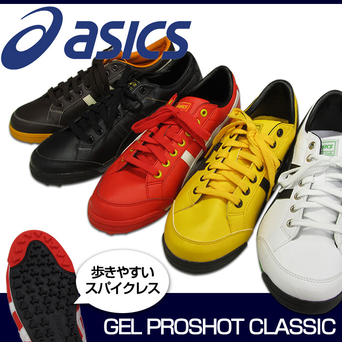 Asics Gel pre shot classic spikeless golf shoes stability and pursue! Leads  flat sole asics GEL PRESHOT CLASSIC TGN906 waterproof