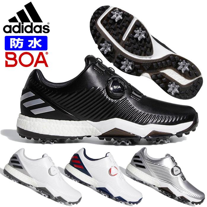 アディダス ゴルフ シューズ メンズ ADIPOWER 4ORGED BOA ボア スパイクレス フォージド 防水 軽量 安定性 通気性 合成皮革 adidas BB79