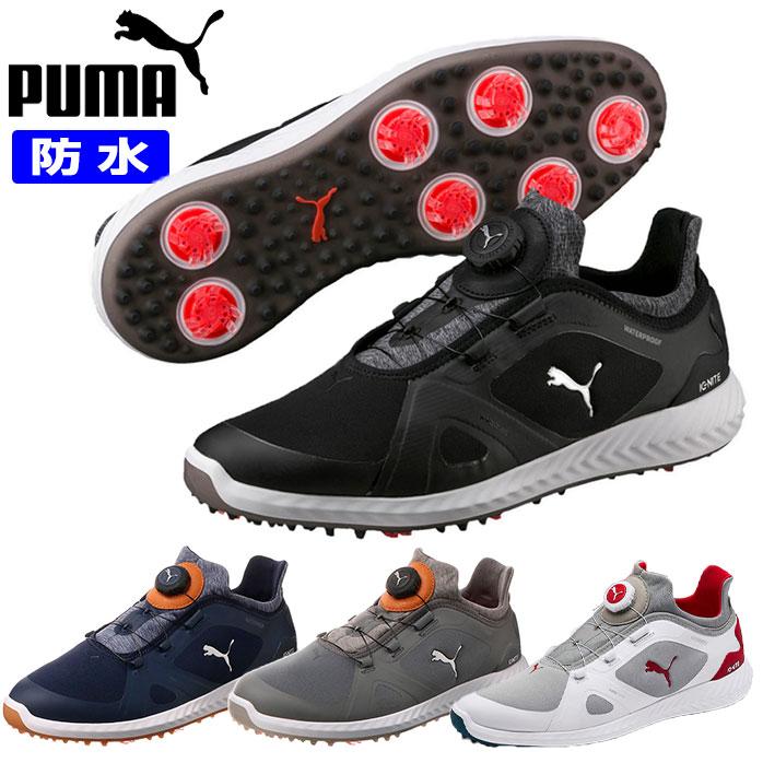 プーマ ゴルフ シューズ メンズ ソフトスパイク イグナイト パワーアダプト ワイヤー ダイヤル 防水 PUMA 190582