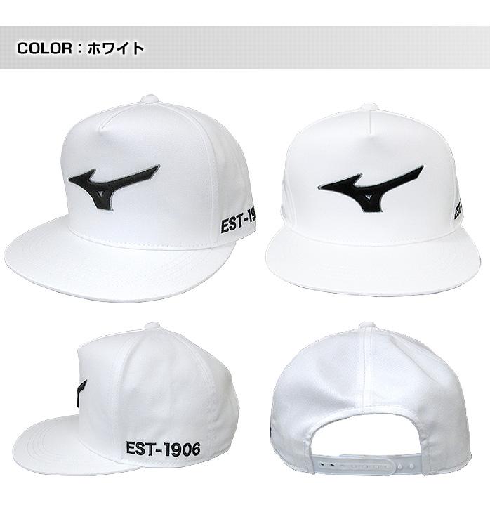 【税込3,980円】 ミズノ ゴルフ フラットキャップ ゴルフ以外でも着用可能なデザインキャップ メンズ ゴルフキャップ  mizuno golf cap 52JW6059 outlet