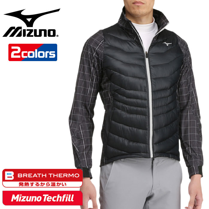 ミズノ MGムーブHYBRID テックSガラ ジャケット ブレスサーモ テックフィル テックシールド ミズノのテクノロジーをフル活用した機能性ジャケット! メンズ Mizuno 52ME7514