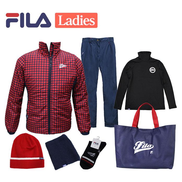 【1月1日からの発送】 FILA 2019年モデル 新春 福袋 6点セット+バッグ付き レディース フィラ ゴルフ 女性用