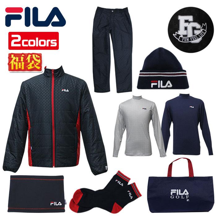 フィラ FILA ゴルフ 福袋 2020年 メンズ 7点セット バッグつき 冬服 全身揃う 789-100 789-101 全2色