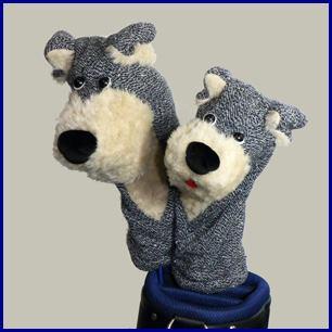 Edinburgh tweed 犬のヘッドカバー『エジンバラツイード』 ヘッドカバー【ドライバー(460cc)&フェアウェイウッド】2点セット《シルバーグレー》