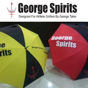 FOR ATHLETE GOLFERS 注文後の変更キャンセル返品 未使用 送料無料 数量限定 ジョージスピリッツ SPIRITS アンブレラ GEORGE