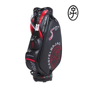 【送料無料】CASTELBAJAC 9.0型 カステルバジャック メンズ カートキャディバッグ『Golf-Trotteur柄』 【ブラック】23003-304