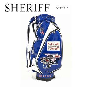 【送料無料】SHERIFF American SERIES シェリフ アメリカンシリーズ 3点式 キャディバッグ『ブルー』 【SFA-011】