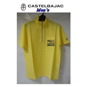 50%OFF CASTELBAJAC お値打ち価格で カステルバジャック テンセル スタンド刺繍入ハーフジップ ランキングTOP5 半袖シャツ 23870-107 メンズウェア イエロー
