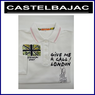 CASTELBAJAC カステルバジャック 長袖 ポロシャツ【ホワイト】レディースウェア 24670-401