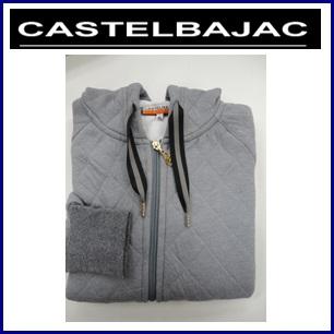 【送料無料】CASTELBAJAC カステルバジャック ダイヤ柄キルトブルゾン『グレー』レディースウェア 24671-405