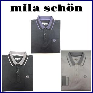 【送料無料】mila schon ミラショーン メンズ スーピマ鹿の子長袖シャツ 33075-104