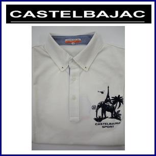 CASTELBAJAC カステルバジャック ボタンダウン半袖シャツ『ホワイト』 メンズウェア 23970-303