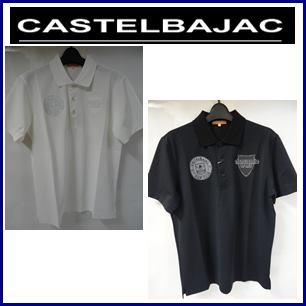 【送料無料】CASTELBAJAC カステルバジャック アイスコットン厚盛プリント入り 半袖ポロシャツ メンズウェア【23370-108】