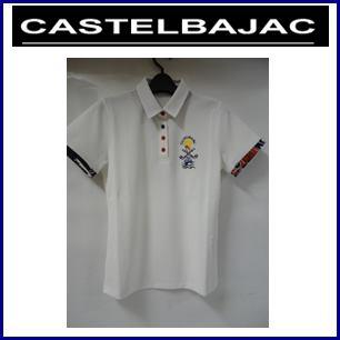 【送料無料】CASTELBAJAC カステルバジャック マリン柄使いモチーフ半袖ポロシャツ レディースウェア『ホワイト』24370-217