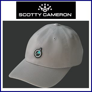 SCOTTY CAMERON Limited PinFlag Patchi Slouch Cotton Twill Charcol-キャメロン キャップ【グレー】