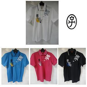 【送料無料】CASTELBAJAC カステルバジャック アイスコットンクール鹿の子プリント入スリム 半袖ポロシャツ メンズウェア【23870-112】