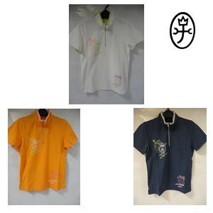 【送料無料】CASTELBAJAC カステルバジャック アイスコットン ハイネック 半袖ポロシャツ レディースウェア 24770-208