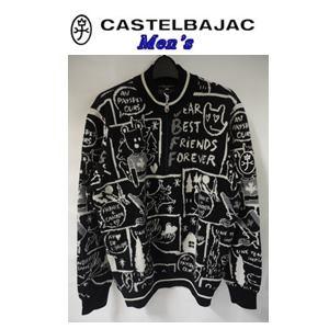50%OFF CASTELBAJAC カステルバジャック W 日本限定 NY 休み ハーフ ZIPエアーヤーン ブラック セーター 21980-114 46 M メンズウェア