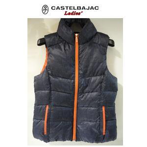 【送料無料】CASTELBAJAC カステルバジャック HEAT POP 綿入りダウンベスト『ネイビー』【24513-203】レディースウェア