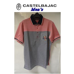 50%OFF CASTELBAJAC カステルバジャック 交編鹿の子使い 半袖ポロシャツ 21070-133 35%OFF メンズウェア レッド 早割クーポン