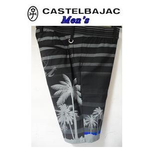 50%OFF CASTELBAJAC カステルバジャック トロピカル BD インクジェット 爆買いセール 90cm 23745-115 LL 期間限定お試し価格 50 ブラック 半パンツ