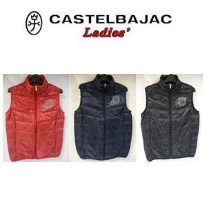 新色追加して再販 超軽量 30%OFF CASTELBAJAC カステルバジャック レディースウェア 格安激安 ダウンベスト 24913-405