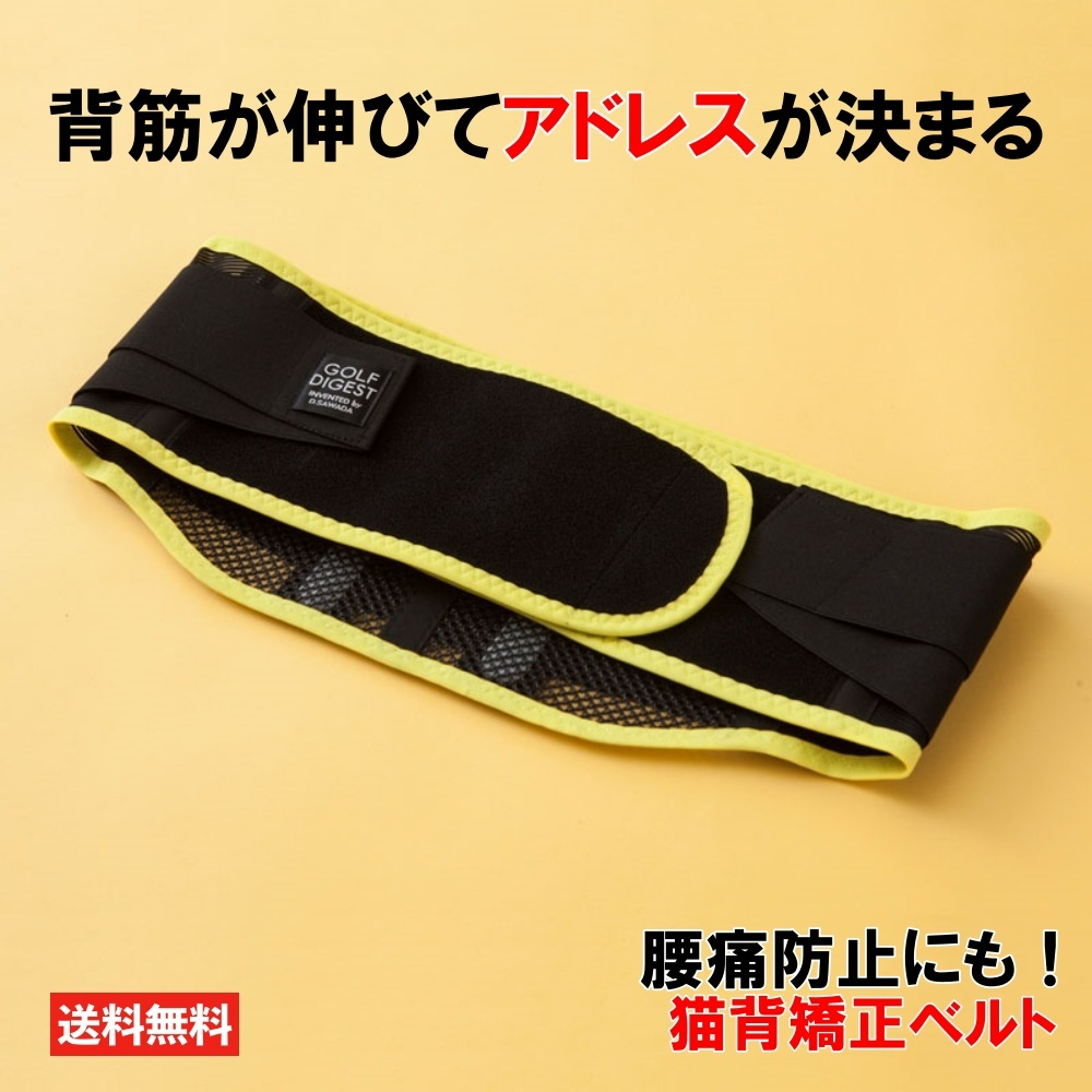 ゴルフ フィットネス器具 人気ブランド多数対象 贈答 アクセサリー メンズ レディース by プロも使用 猫背矯正ベルト D.SAWADA Invented