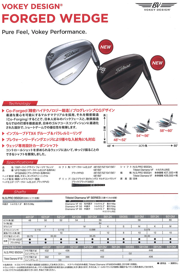 Special order custom club Titleist Vokey フォージドウェッジツアークロム finish AMT BLACK  shaft