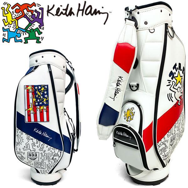 キースヘリング ゴルフ カート キャディバッグ American flag × Pattern KHCB-06