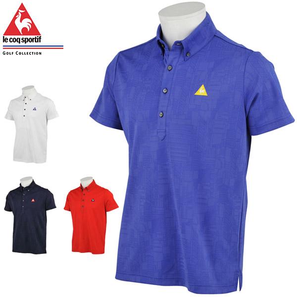 ルコック メンズ ゴルフウェア シティハイゲージ ジャガード 半袖ポロシャツ QGMPJA03 2020年春夏モデル M-LL 【あす楽対応】