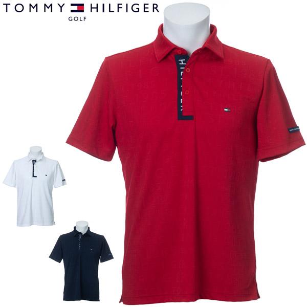 トミーヒルフィガー ゴルフ ウェア メンズ ロゴジャガード 半袖ポロシャツ THMA009 2020年春夏モデル M-XL 【あす楽対応】