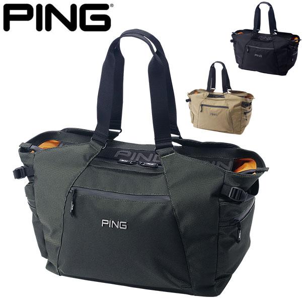 大容量のトート型バッグ正面、開口部防水ファスナーインナーは荷物が見えやすいオレンジカラー ピン トートバッグ GB-P202