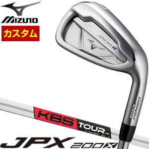 ミズノ JPX200X アイアン KBS TOUR C-TAPER95 シャフト 4本セット[#7-P] 特注カスタムクラブ