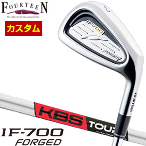 特注カスタムクラブ フォーティーン IF-700 Forged アイアン KBS TOUR C-TAPER 95 シャフト 5本セット[#6-P]