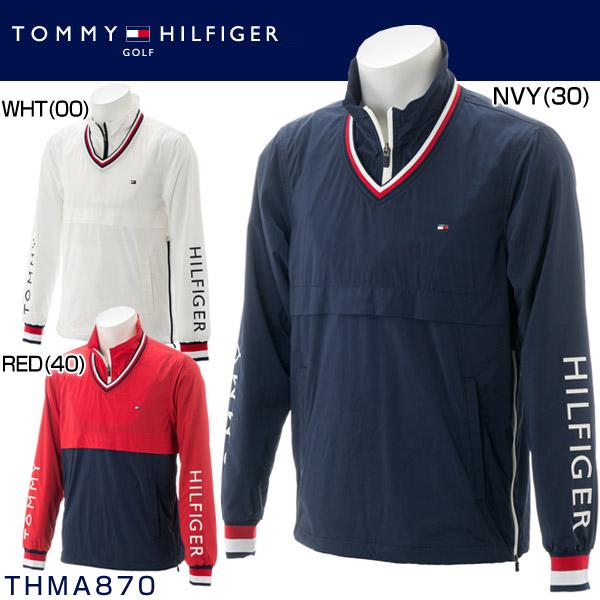 トミー ヒルフィガー ゴルフ メンズウエア 2WAY ハーフジップ ウィンドジャケット THMA870 2018年秋冬モデル M-LL 【あす楽対応】