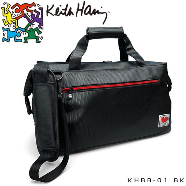 キース・ヘリング ゴルフ ボストンバッグ Holding Heart KHBB-01